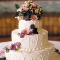 Cakes, white, pink, purple, cake