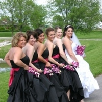 Flowers & Decor, Bridesmaids, Bridesmaids Dresses, Fashion, white, purple, Bridesmaid Bouquets, Flowers, Flower Wedding Dresses