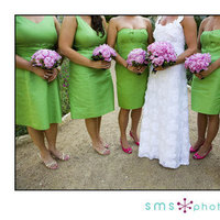 Ceremony, Reception, Flowers & Decor, Bridesmaids, Bridesmaids Dresses, Wedding Dresses, Fashion, pink, green, dress, Ceremony Flowers, Bridesmaid Bouquets, Flowers, Sms photography, Flower Wedding Dresses