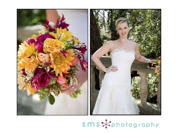 Beauty, Ceremony, Flowers & Decor, Wedding Dresses, Fashion, yellow, orange, pink, green, dress, Ceremony Flowers, Flowers, Hair, Sms photography, Flower Wedding Dresses