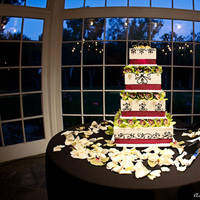 Cakes, white, purple, green, black, cake, Sweet, The, A, Design, Lake, Damask, Malibou, Ashleigh taylor photography