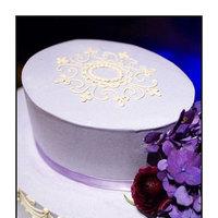 Reception, Flowers & Decor, Cakes, white, purple, cake, Sms photography