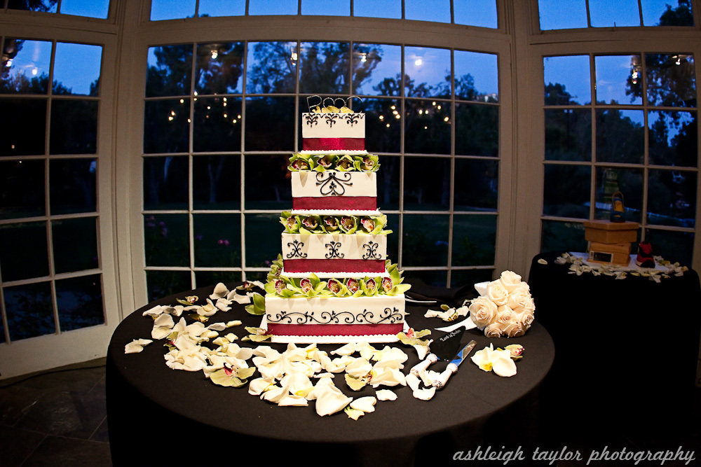 Cakes, white, purple, green, black, cake, Sweet, The, A, Design, Lake, Damask, Malibou, Ashleigh taylor photography