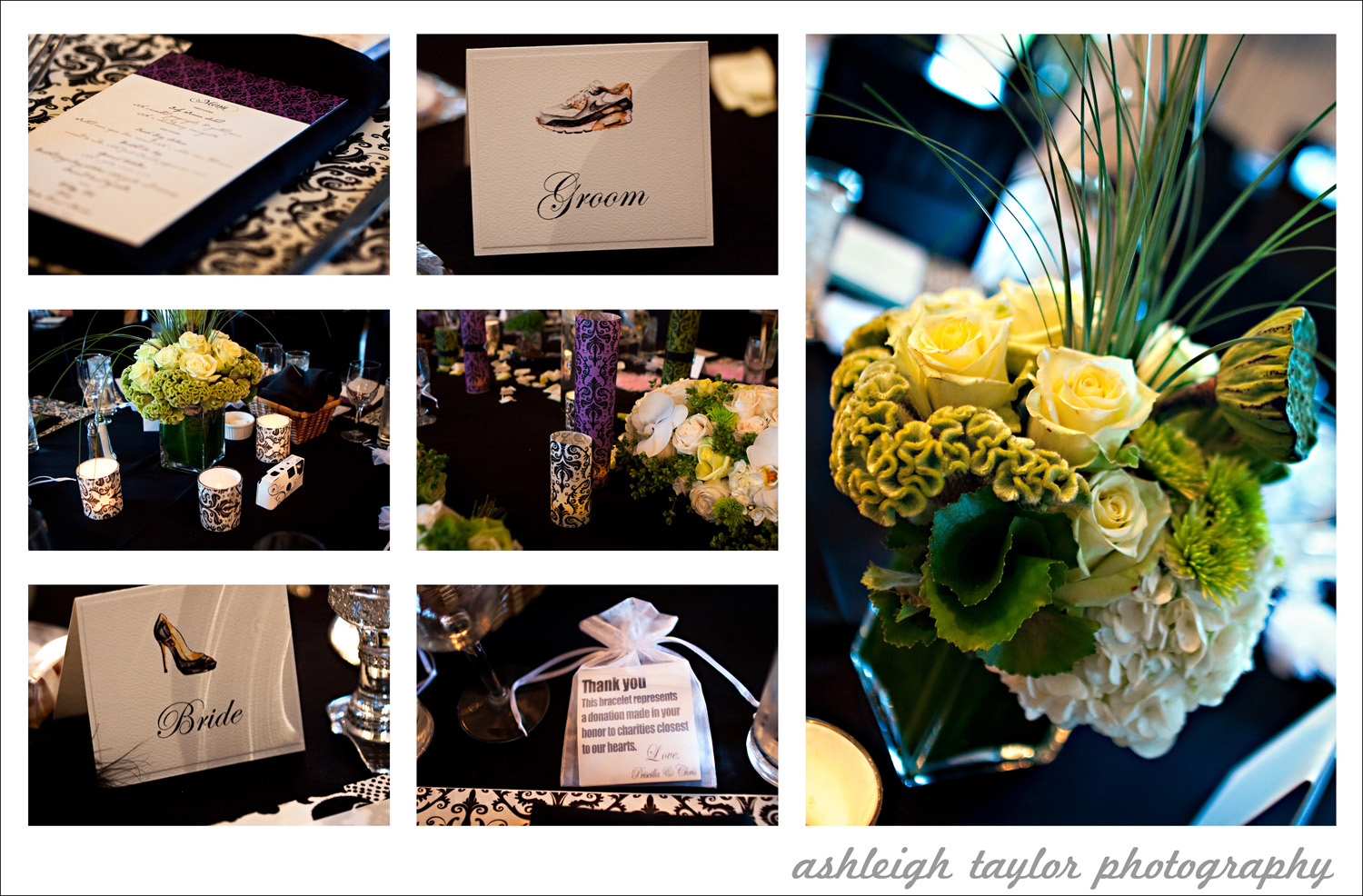 Inspiration, white, purple, green, black, And, Board, Club, Lake, Damask, Malibou, Mountain, Ashleigh taylor photography