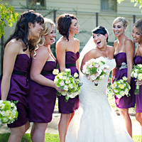 Flowers & Decor, Bridesmaids, Bridesmaids Dresses, Wedding Dresses, Fashion, white, purple, green, black, dress, Bridesmaid Bouquets, Flowers, Wedding, And, Club, Lake, Enzoani, Malibou, Mountain, Ashleigh taylor photography, Flower Wedding Dresses