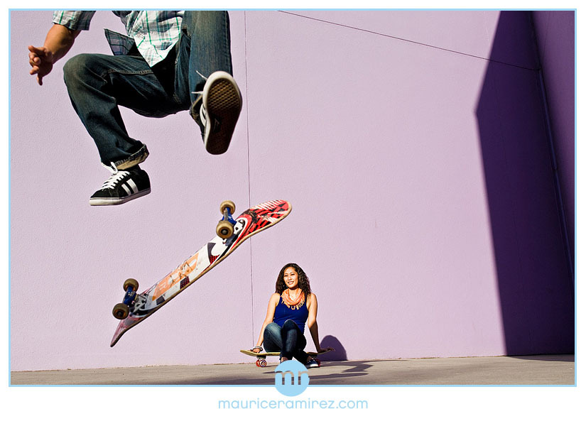 blue, Engagement, Maurice ramirez photo design, Skateboarding