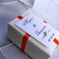Reception, Flowers & Decor, Favors & Gifts, white, orange, Favors, Guest, Bridal trends weddings