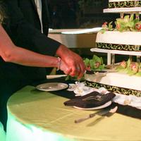 Flowers & Decor, Cakes, green, black, cake, Flowers, Damask