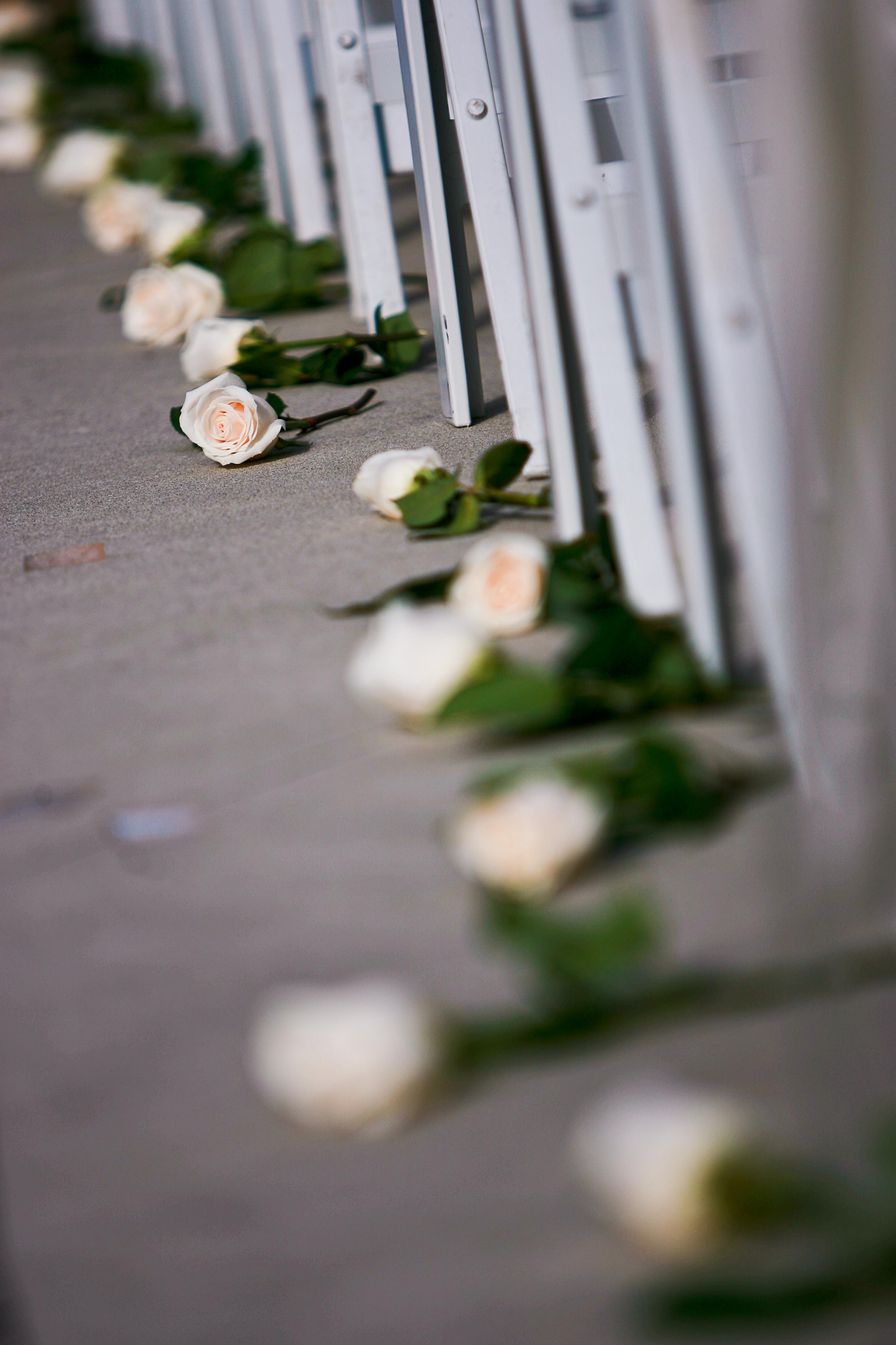 Ceremony, Flowers & Decor, white, green, black, Ceremony Flowers, Aisle Decor, Flowers, Aisle
