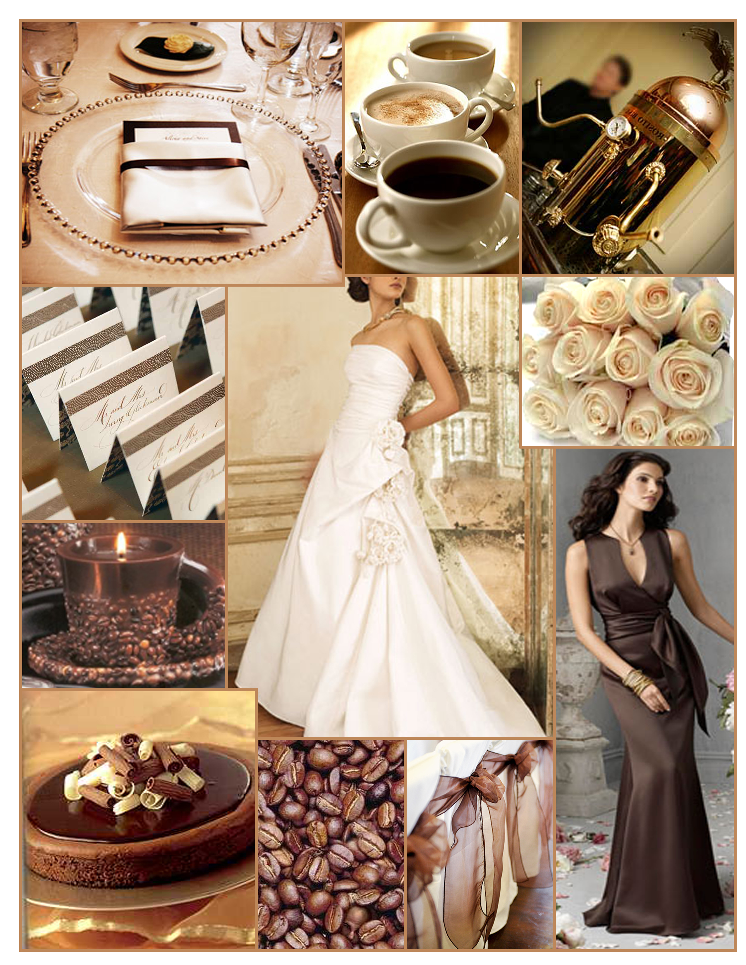 Inspiration, white, brown, Board, Lazaro, Coffee, Mocha, Espresso, Latte, Cappuccino, Jim hjelm occasions, Cream roses, Coffee beans, Coffee theme