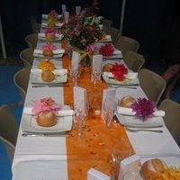 Reception, Flowers & Decor, yellow, orange, pink, red