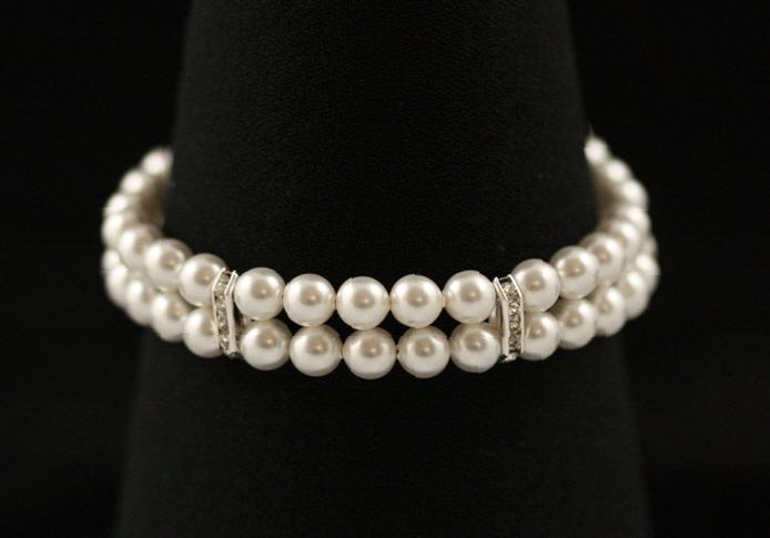 Jewelry, white, ivory, silver, Bracelets, Elegant, Crystal, Cream, Bracelet, Sparkle, Rhinestone, Handcrafted, Plumb crazy