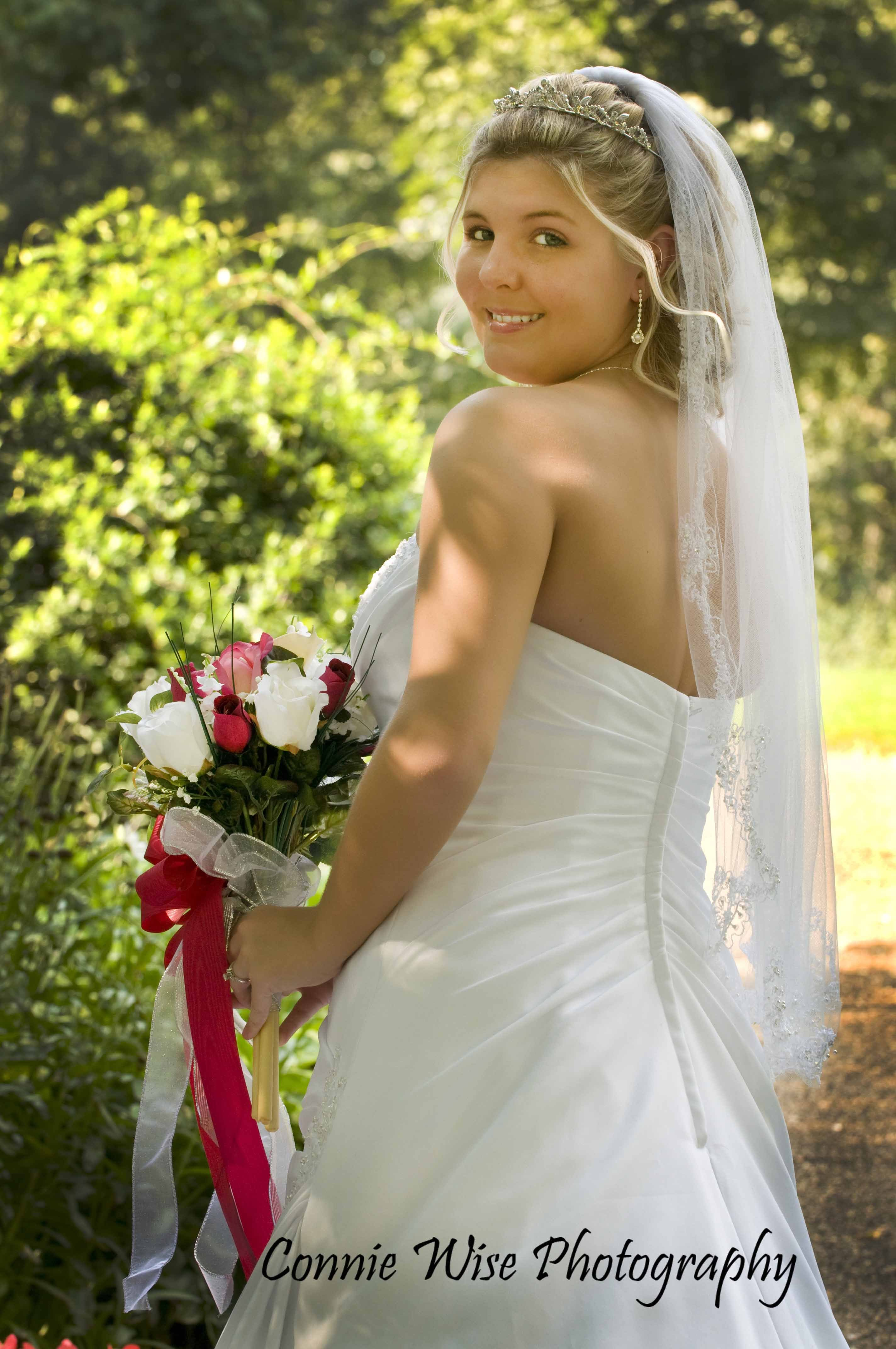 Beauty, Ceremony, Flowers & Decor, Wedding Dresses, Fashion, white, pink, dress, Ceremony Flowers, Bride Bouquets, Flowers, Bouquet, Portrait, Hair, Bridal, Photojournalistic, Connie wise photography, Tradtitional, Flower Wedding Dresses