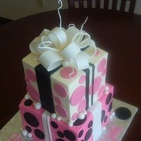 Cakes, pink, black, cake, Shower