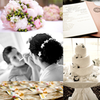 Beauty, Inspiration, Flowers & Decor, Stationery, Cakes, white, orange, pink, cake, Makeup, Invitations, Flowers, Hair, Board, Vendors