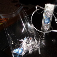 Reception, Flowers & Decor, Favors & Gifts, white, blue, silver, Favors, My