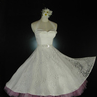 Wedding Dresses, Vintage Wedding Dresses, Fashion, white, yellow, dress, Winter, Vintage, Wedding, Short, Chiffon, Full, Retro, Silk, Crinoline, Skirt, Tea-length, 50s, Vintage-inspired, Whirlingturban, Turban, Whirling, Short Wedding Dresses, winter wedding dresses, Chiffon Wedding Dresses, Silk Wedding Dresses