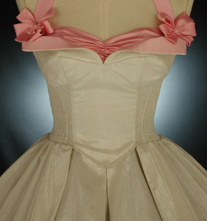 Wedding Dresses, Vintage Wedding Dresses, Fashion, white, pink, silver, dress, Winter, Vintage, Wedding, Short, Satin, Full, Retro, Silk, Bows, Crinoline, Skirt, Tea-length, 50s, Vintage-inspired, Whirlingturban, Whirling turban, Short Wedding Dresses, winter wedding dresses, satin wedding dresses, Silk Wedding Dresses