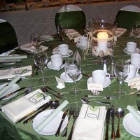 Reception, Flowers & Decor, ivory, green, Chair, Covers, Tablecloths, Watkins event decor
