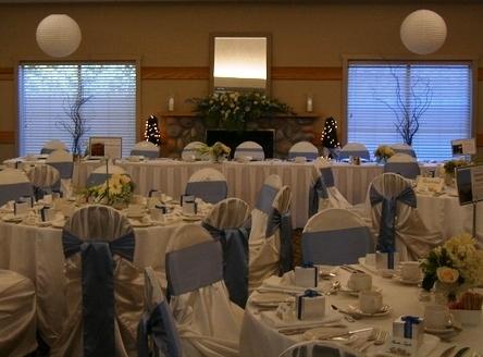 Reception, Flowers & Decor, Decor, white, blue, Watkins event decor