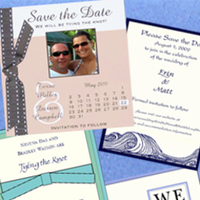 Stationery, white, Announcements, Invitations, The, Save, Date, Emerald invitations
