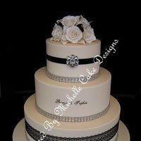 Cakes, white, black, silver, cake