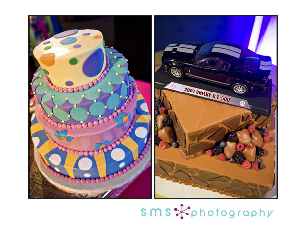 Reception, Flowers & Decor, Cakes, yellow, orange, pink, blue, green, cake, Sms photography