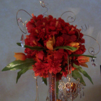 Ceremony, Reception, Flowers & Decor, orange, red, gold, Ceremony Flowers, Centerpieces, Flowers, Centerpiece, Table, Design, Decorations, Vivid expressions llc