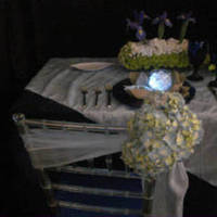 Reception, Flowers & Decor, Registry, purple, blue, silver, Tables & Seating, Place Settings, Flowers, Table, Chairs, Design, Plate, Vivid expressions llc
