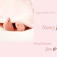 Stationery, invitation, Announcements, Invitations, Photo, Baby, Announcement, Birth, Digital illusions design slideshow photo montage