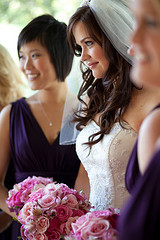 Beauty, Inspiration, Flowers & Decor, Bridesmaids, Bridesmaids Dresses, Wedding Dresses, Fashion, white, purple, silver, dress, Makeup, Bride Bouquets, Bridesmaid Bouquets, Bride, Flowers, Hair, Board, Myheartistry makeup, Flower Wedding Dresses