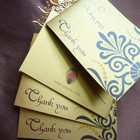 Stationery, brown, gold, Invitations, Cards, You, Thank, Ijorere the invitation