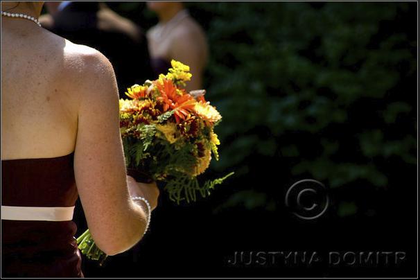 Ceremony, Flowers & Decor, Bridesmaids, Bridesmaids Dresses, Wedding Dresses, Fashion, yellow, orange, brown, dress, Ceremony Flowers, Bridesmaid Bouquets, Flowers, Justyna domitr, Flower Wedding Dresses