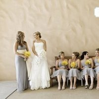 Bridesmaids, Bridesmaids Dresses, Fashion, yellow, Grey