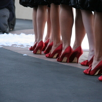 Bridesmaids, Bridesmaids Dresses, Shoes, Fashion, red, black
