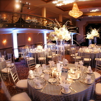 Reception, Flowers & Decor, blue, silver, Tables & Seating, Tables, Clearly classy events