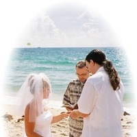 Ceremony, Flowers & Decor, blue, green, silver, Beach, Beach Wedding Flowers & Decor, Catholic beach weddings