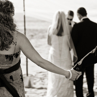 Ceremony, Flowers & Decor, Beach, Guests, Beach Wedding Flowers & Decor, Wedding, Black and white, Photojournalism, Fs photography