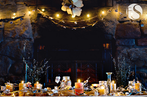 Inspiration, Reception, Flowers & Decor, yellow, orange, brown, Candles, Branches, Table, Board, Details, Decoration, Mountain, Twigs, Fs photography, Alpine, Cabin