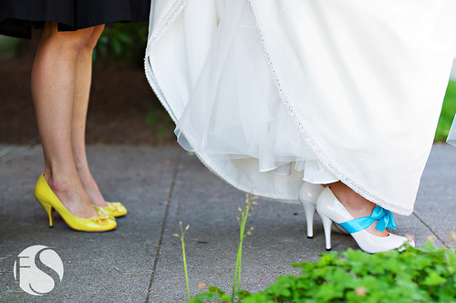Inspiration, Bridesmaids, Bridesmaids Dresses, Shoes, Fashion, yellow, blue, Detail, Teal, Board, Ribbon, Turquoise, Footwear, Fs photography