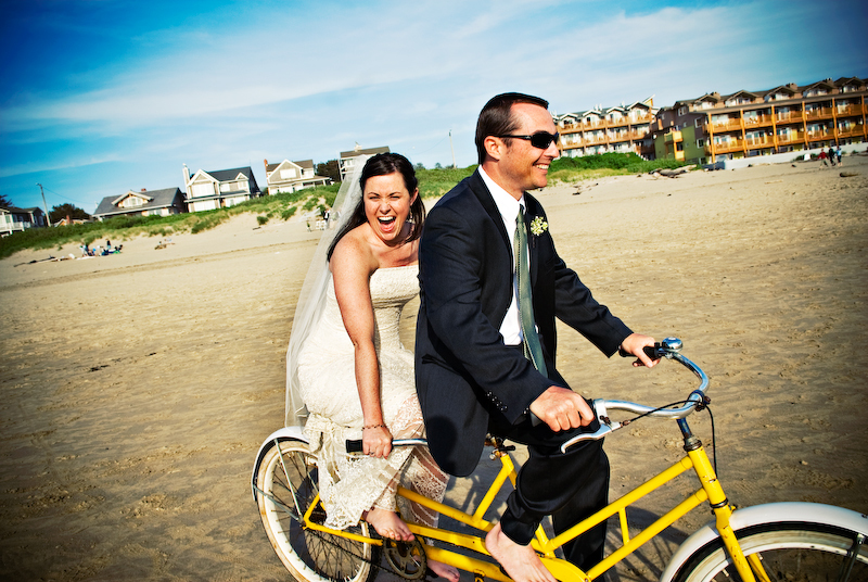 yellow, blue, Beach, Artistic, Oregon, Bicycle, Bike, Fs photography, Tandem