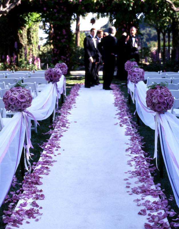 Flowers & Decor, white, purple, Flowers, Rose petals, Colin cowie wedding