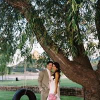 Beauty, Flowers & Decor, Wedding Dresses, Fashion, white, pink, green, dress, Makeup, Bride Bouquets, Flowers, Bouquet, Groom, Hair, Scenery, Flower Wedding Dresses