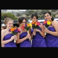 Ceremony, Flowers & Decor, Bridesmaids, Bridesmaids Dresses, Fashion, white, yellow, orange, purple, blue, silver, gold, Ceremony Flowers, Bridesmaid Bouquets, Flowers, Flower Wedding Dresses