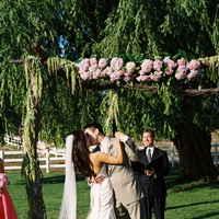 Beauty, Ceremony, Flowers & Decor, Decor, Wedding Dresses, Fashion, white, pink, blue, green, brown, dress, Ceremony Flowers, Flowers, Groom, Hair, Flower Wedding Dresses