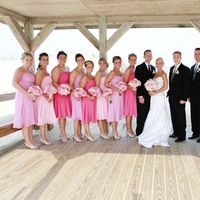 Inspiration, Bridesmaids, Bridesmaids Dresses, Beach Wedding Dresses, Fashion, pink, black, Beach, Board