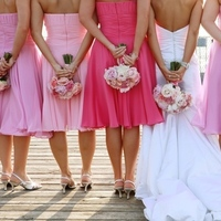 Inspiration, Flowers & Decor, Bridesmaids, Bridesmaids Dresses, Wedding Dresses, Fashion, pink, dress, Bridesmaid Bouquets, Flowers, Board, Flower Wedding Dresses