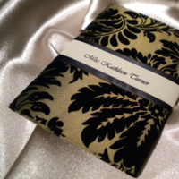 Stationery, black, gold, invitation, Invitations, Fabric, Damask, Adorned by dana