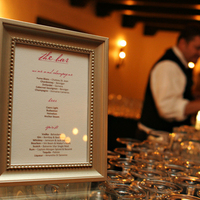 Reception, Flowers & Decor, gold, Menu, Bar