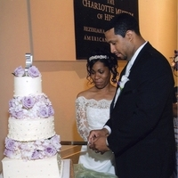 Reception, Flowers & Decor, Cakes, purple, cake